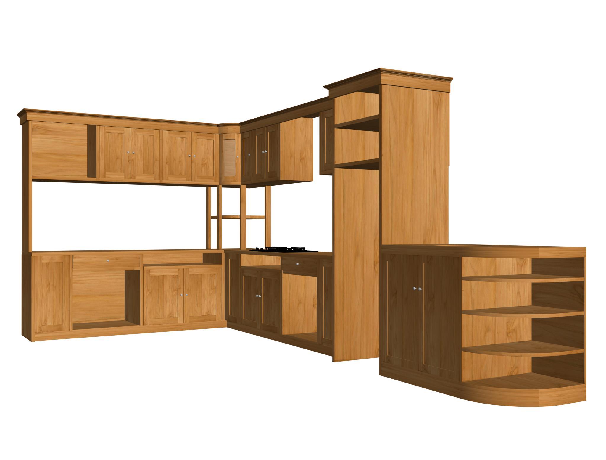 kitchen set ukiran jepara  tema furniture - kitchen set jati